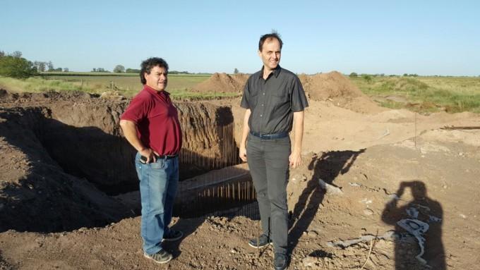 Totoras: Comenzó la construcción de los puentes sobre el Canal Lasaga