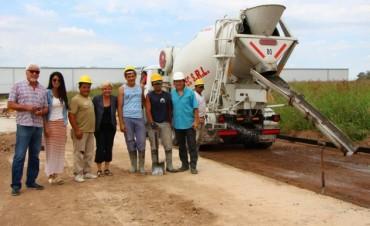 Clérici recorrió avance de obra en el Parque Industrial