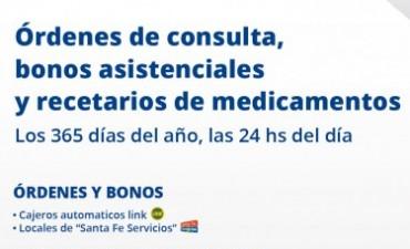 Adquisición de órdenes de consulta y bonos asistenciales