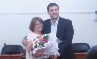 Los ediles homenajearon a la ex secretaria del Concejo Municipal