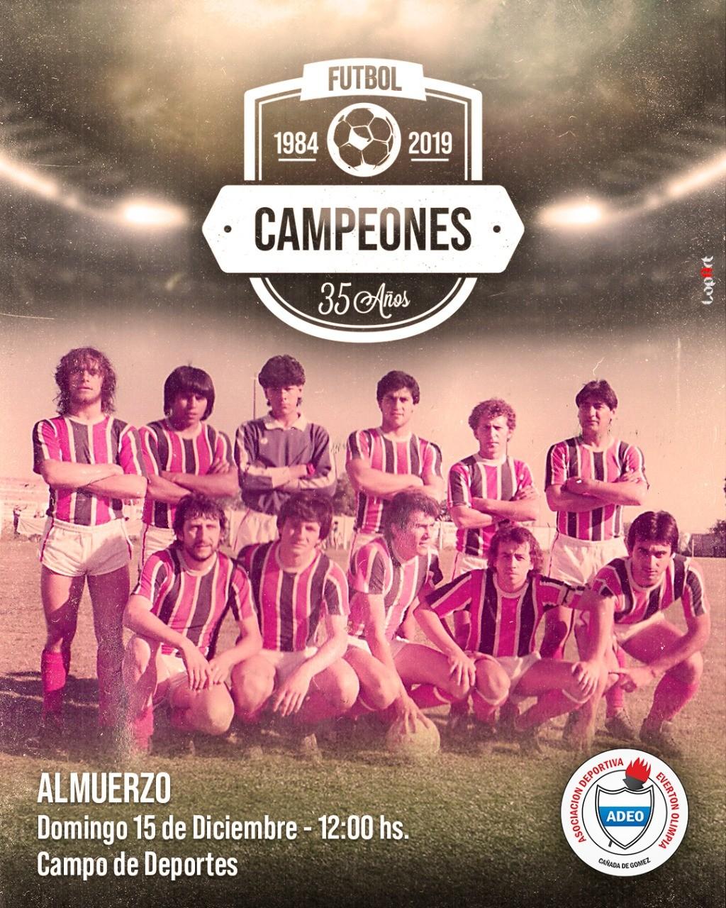 ADEO recuerda el título obtenido en 1984