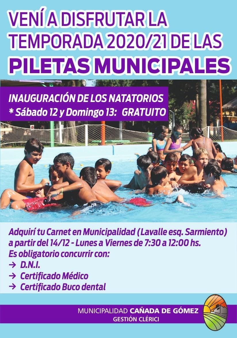 El Sábado quedarán habilitados los natatorios municipales